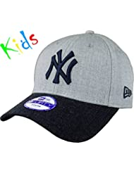 New Era Heather Team Jr Neyyan Otc - Gorra Línea New York Yankees para Niño, color azul, talla única