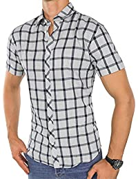 JACK   JONES Herren Hemd jcoBRAND Freizeithemd Kariert Button-Down Kent  Slim Fit 03643b989d