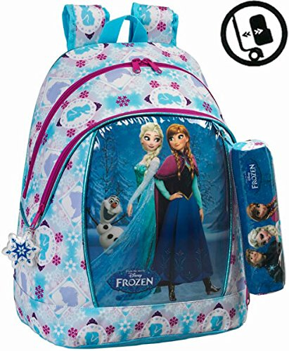Frozen Friends Forever Mochila Adaptable a Carro, Color Azul