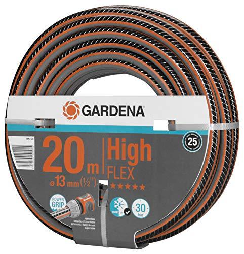 """GARDENA Comfort HighFLEX Schlauch 13mm (1/2\""""), 20 m: Gartenschlauch mit Power-Grip-Profil, 30 bar Berstdruck, formstabil, UV-beständig (18063-20)"""