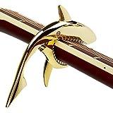 Mugig Capo de Resorte en forma de Tiburón fabricado en Aleación de Zinc para Guitarra Eléctrica, con buena sensación al tacto (dorado)