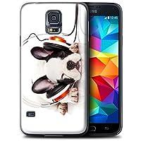 Gedruckt Schutzkoffer Schutzhüllen / Hülle für Samsung Galaxy S5 Mini / Hund Köpfhörer Muster / Lustige Tiere Kollektion