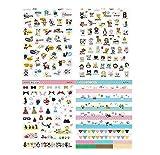 Hosaire Stickers Kawaii Animaux Paradis Autocollant Stickers Adhésif Cartoon DIY Décoration de Calendrier Album Scrapbooking 8 Fiches