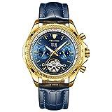 HWCOO Schöne Coole Uhr TEVISE Herrenuhr für große Fliegeruhr automatische mechanische Uhr Tourbillon Herrenuhr (Color : 10)