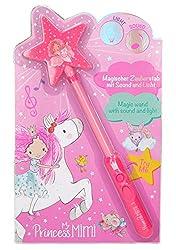 Depesche 10329 Magischer Zauberstab mit Licht und Soundeffekten, Princess Mimi, ca. 30 cm, pink