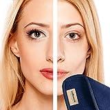 LaBeauté Abschmink-Tücher (2 Stück), Gesichtsreinigung und Make-Up Entferner Tuch, waschbar und wiederverwendbar,21 x 21 cm, Navy/Dunkelblau Test