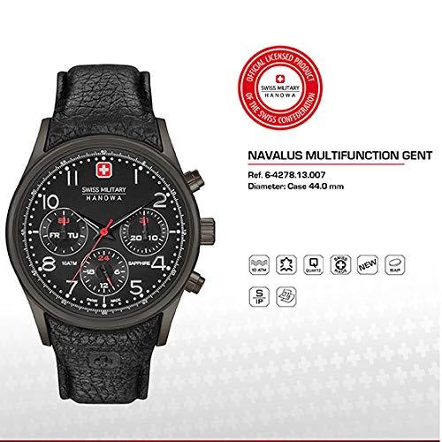 SWISS MILITARY-HANOWA Herren Analog Quarz Uhr mit Leder Armband 06-4278.13.007