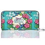 YoMeiJun Mujeres Carteras Largas De Cuero Con Cremallera Billetera De Impresión Varios Colores Flores01