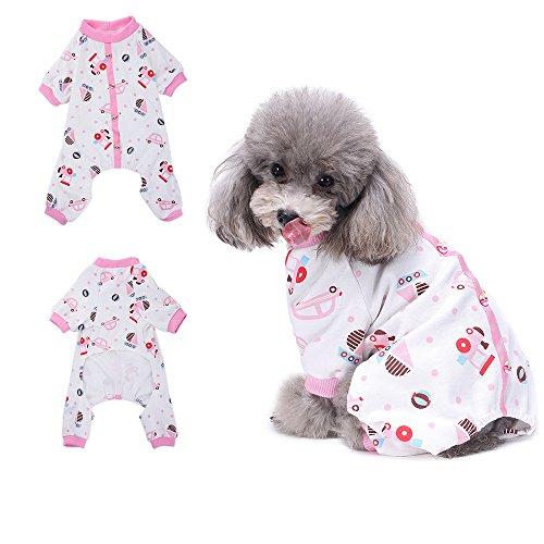(HongYH Auto mit Hundemantel mit Hunde Welpen pyjamsa, weich, T-Shirt aus 100% Baumwolle, Mantel für kleine Hunde und Katzen)