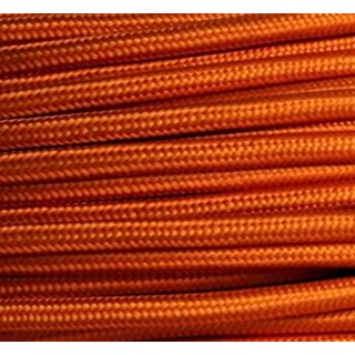 Textilkabel Stoffkabel orange , 3-adrig rund , 3x0,75