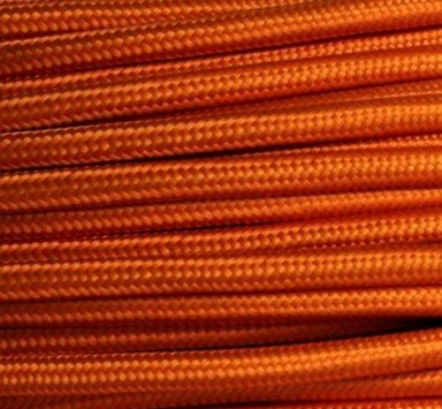 Preisvergleich Produktbild Textilkabel Stoffkabel orange , 3-adrig rund , 3x0,75