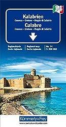 Kalabrien: Regionalkarte Italien Nr. 14 1:200 000 (Kümmerly+Frey Reisekarten)