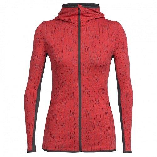 Icebreaker Damen Away Zip Hood Showers Jacke Pullover Sweatshirt Kapuzenpullover -