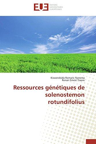 Ressources génétiques de solenostemon rotundifolius par Kiswendsida Romaric Nanema