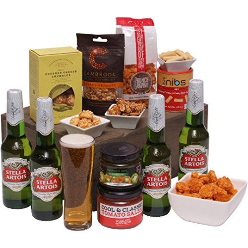 Beers and Bites Gift Hamper - Beer Hampers For Men - The Perfect Gift For Him and Hard To Buy For Man