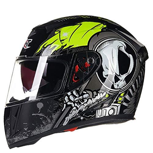Doble Visor Cara Completa Motocicleta Casco Anti Niebla