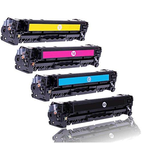 Preisvergleich Produktbild Premium 4 x Toner patronen Kompatibel zu HP CF380X,  CF380A,  CF381A,  CF382A,  CF383A,  312X,  312A Color LaserJet PRO MFP M470 Series M476dn M476dw M476nw kompatibel (BK, C, Y, M)