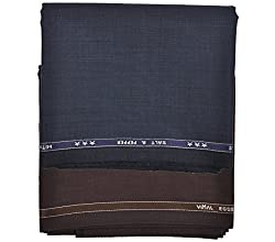 Vimal Trouser Fabric for Men (Pack of 2) Color: Blue & Coke, Size: 1.3 Meters