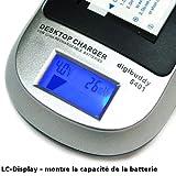 Mertrado - Le Chargeur Intelligent Li-Ion avec LC-Display - Chargeur de batterie Panasonic DU06/DU07/DU12/DU14/DU21/VW-VBG070/VW-VBG130/VW-VBG260 et Adaptateur chargeur USB