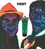 UV-Licht Schminke Bodypainting Schwarzlicht fluoreszierende Neon Farben (grün)