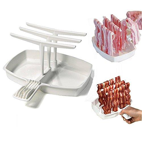 YEARGER Cinturino Bacon vassoio rack Microonde Bacon Cooker Scaffale Rack Di Grassi in meno gesuender strumento di cottura Grill Colazione pasto gadgets