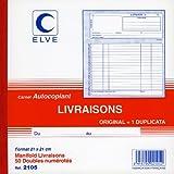 ELVE 22405 Manifold Autocopiant 210 x 210mm Foliotage 50 Duplis Imprimés Livraisons Assorties