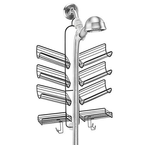 mDesign Duschablage ? praktisches Duschregal ohne Bohren ? Duschkorb zum Hängen aus Metall für sämtliches Duschzubehör aus rostfreiem Metall ? mattschwarz - 4