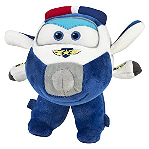 Super Wings Juguetes, Color Paul, Peluche Super wings-19x17,5 cm (ColorBaby 75877)