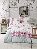 ZIRVEHOME Bettwäsche 135x200 cm, 1 x Kissenbezug 80x80cm Rade 100% Baumwolle Mit Reißverschluss