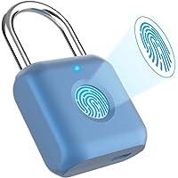 Eseesmart Schloss Mit Fingerabdruck, Fingerprint Vorhängeschloss, Zahlenschloss, Vorhängeschlösser Lock, USB-Aufladung…