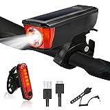 Yokunat Fahrradbeleuchtung Set, USB Aufladbare Fahrrad-Licht-Satz, Gebirgsfahrrad Licht Mit LED 4 Licht Modus Wasserdichte Einfache Installation Ultimate Lighting