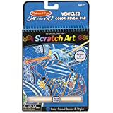 Melissa and Doug On The Go Scratch Art Color Reveal Vehicles Pad Toy, Multi Color