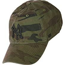 Gorra curva camuflaje con logo negro de New York Yankees MLB Regiment Clean  Up de 47 f485d4f51cc