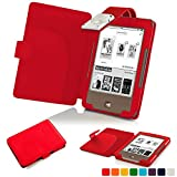 Forefront Cases® Tolino Page Shell Hülle Schutzhülle Tasche Bumper Folio Smart Case Cover Stand mit LED Licht - Leicht mit Rundum-Geräteschutz (ROT)