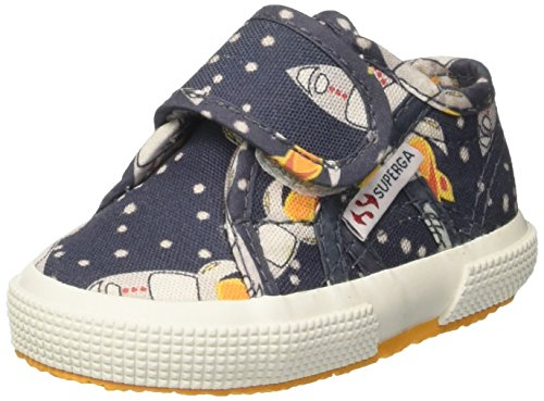 Superga Kinder-Unisex 2750-Fantasy Bvel Niedrige Sneaker Multicolore (Space Blue)