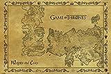 Poster Game of Thrones - Landkarte Essos und Westeros - Größe 61 x 91,5 cm - Maxiposter