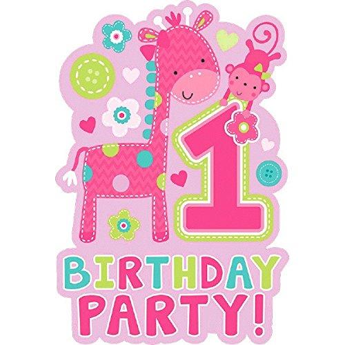 Wild at One Girl 's ersten Geburtstag Einladungen & Umschläge