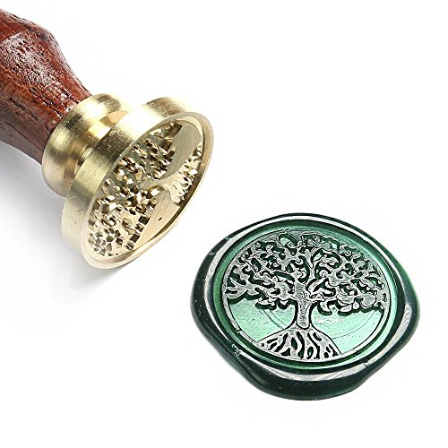UNIQOOO Arts & Crafts Baum des Lebens Wachs Siegel Stempel -