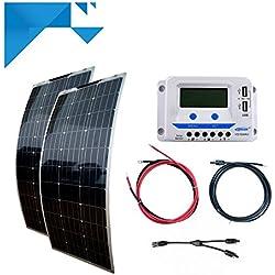 Kit solaire 200W 12V EPEVER souple-pour bateau - camping car