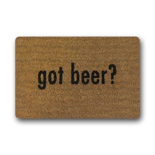 Customize Got Beer Decorative Door Mats Rubber Entryway Mats Non-Slip Washable Doormat 23.6 x15.7 Inch Non-Slip Floor Mat 23.6 x 15.7 Inch -