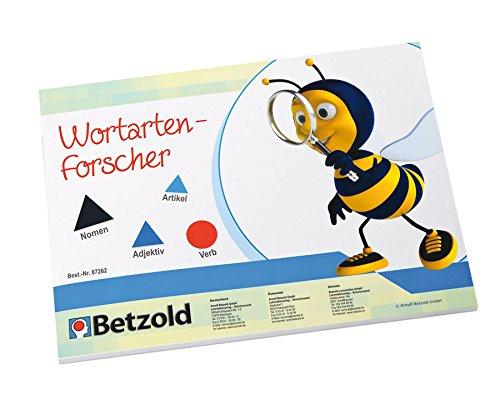Betzold 87262 - Montessori-Material Wortartenforscher, magnetische Symbole - Deutsch Lehrmittel (Wort-art)