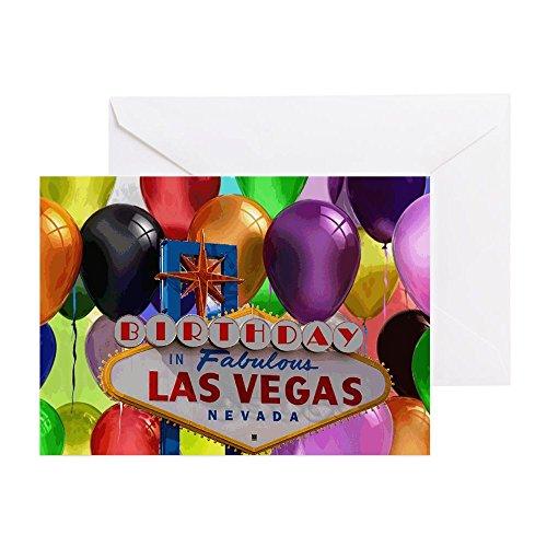 stag in Las Vegas Ballon-Grußkarte, Note Karte, Geburtstagskarte, innen blanko, glänzend ()