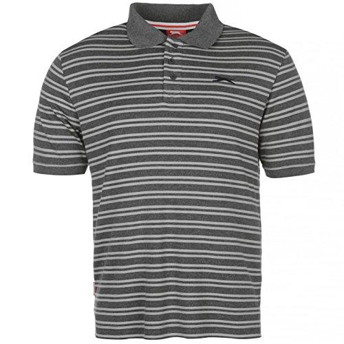 Slazenger Herren Poloshirt, Kurzarm Charcoal/Grey Marl