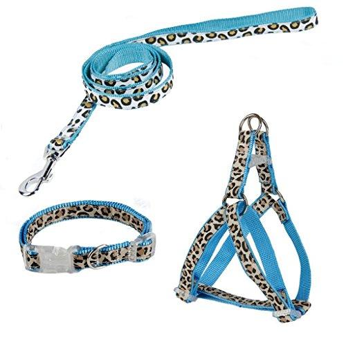 Pawz-Road-Leopard-Pet-Leash-Collar-Harness-Set