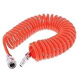 sourcing map 6 Meter Länge 8mm x 5mm Polyurethan Spiral Luft Wasserschlauch Orange DE
