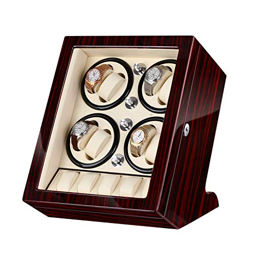 automatic watch winder for 13 watches banker-w8513,gift for luxury gifts for men,brown