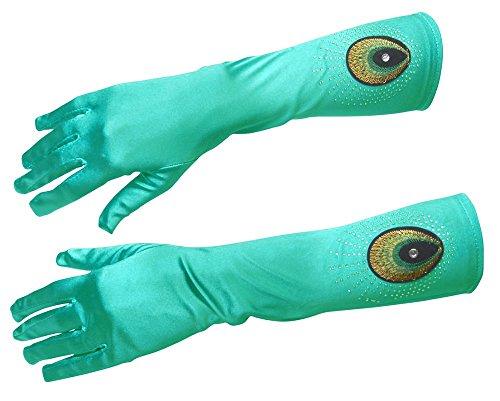 Handschuhe mit Pfauen Stickerei - Toll zum Kostüm Samba Tänzerin für Damen