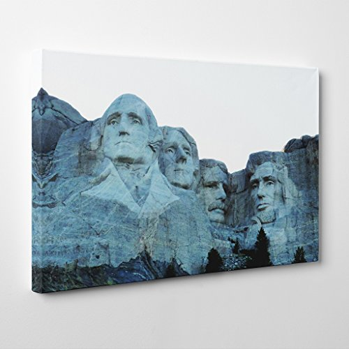 BIG Arty Pie Landscape Mount Rushmore South Dakota USA Canvas Print, Multi-Colour, 24 x 16-Inch/60 x 40 cm