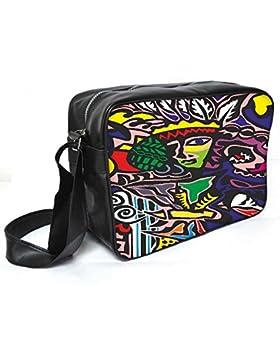 Snoogg Abstrakt Junglee Leder Unisex Messenger Bag für College Schule täglichen Gebrauch Tasche Material PU