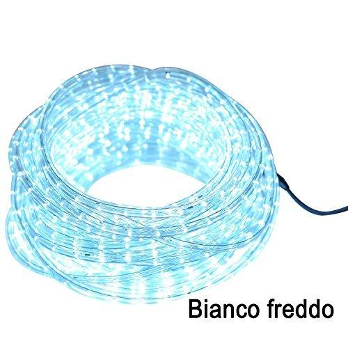 Striscia LED luci Led decorazione addobbi per natale per interni ed esterni (Bianco freddo, 10 Metri)